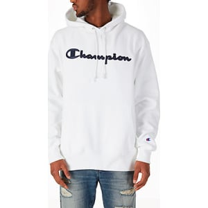 9b2d4bf33b Men s Champion Reverse Weave Script Pullover Hoodie