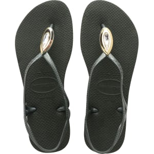8ff095f0b Havaianas Luna Special Flip Flops Olive Green - Womens from Havaianas.
