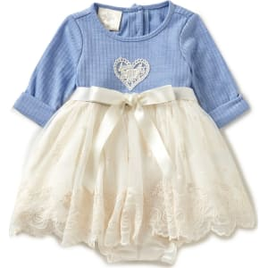 95566c90a Laura Ashley London Baby Girls Newborn-24 Months Colorblock Lace Bow ...