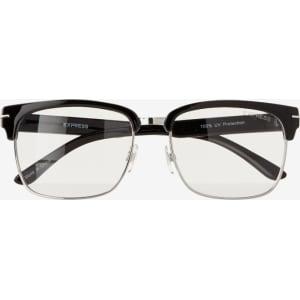 68d49bb6ec Express Mens Clear Lens Browline Sunglasses from Express.