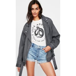 9c62cdb95ebe Express Womens Oversized Twill Moto Jacket from Express.