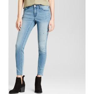2f56a5bcd0cda Women's Jeans Mid Rise Knee Slits Raw Hem Jeggings - Mossimo Light ...