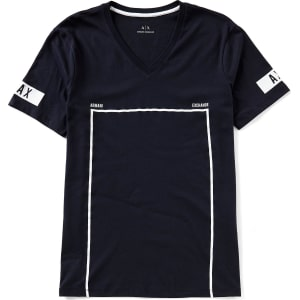 ea5fc00f24a Armani Exchange Slim-Fit Box Graphic Short-Sleeve V-Neck Tee from Dillard s.