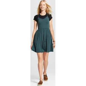 41783c554622 Women's Knit Swing Skater Dress Blue Xl - Mossimo Supply Co. from ...