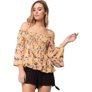 3d3e6a41a645d7 Sky and Sparrow Smock Off the Shoulder Top from Tilly s .