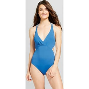 417ebb0270 Sunn Lab Women's Strappy Back Cut Out Monokini - Pacific Blue M from Target.