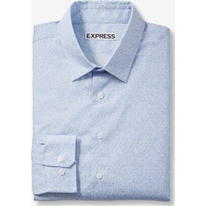 81e396f5b73a Express Mens Extra Slim Floral Print Dress Shirt from Express.
