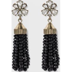 Sugarfix by Baublebar Beaded Tassel Earrings - Black, Girl's