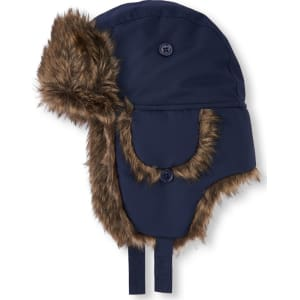 Boys Boys Faux Fur Trapper Hat - Blue from The Children s Place. 3487b5f2e1a