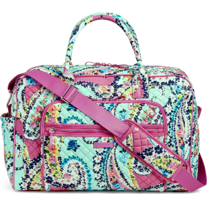 Vera Bradley Iconic Weekender Travel Bag in Wildflower Paisley from ... 50d2da6fcaf96