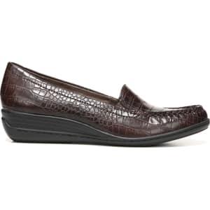 b6e7e057b4b Natural Soul Women s Wilamina Medium Wide Loafers (Dark Brown Crocodile)  from Famous Footwear.