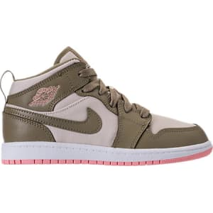 new concept fd415 c3ab6 Nike Girls  Preschool Air Jordan 1 Mid Basketball Shoes, Green from ...