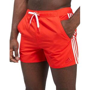 07dd989b08b Adidas 3-Stripe Swim Shorts - Red - Mens from JD Sports.
