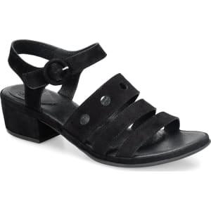ONO Becka Suede Statement Strap Block Heel Sandals