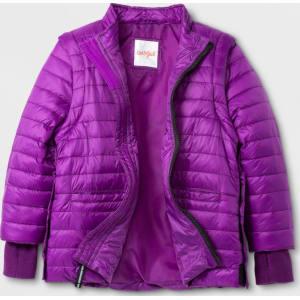 98151edeac9b Toddler Girls  Adaptive Long Sleeve Puffer Jacket - Cat   Jack Plum ...