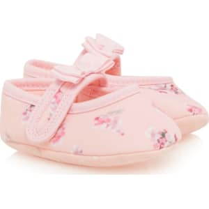b10a2711ffee7d Baker by Ted Baker Baby Girls  Light Pink Floral Print Booties from ...