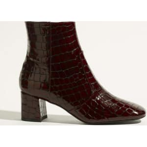 53a052ac756f6 Leather Crocodile Ankle Boots from Karen Millen.