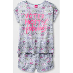 272f3f51eb07 Girls  Disney Mickey Mouse   Friends Minnie Mouse  Voted Most Fabulous  2pc  Pajama Set - Gray 6 from Target.