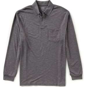 2068f099 Roundtree & Yorke Travel Smart Long-Sleeve Solid Pocket Polo from ...