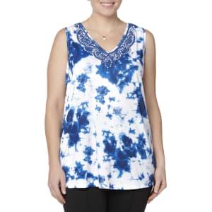 14ef2c2516 Plus Size Simply Emma Women s Plus Swing Tank Top - Tie-Dye