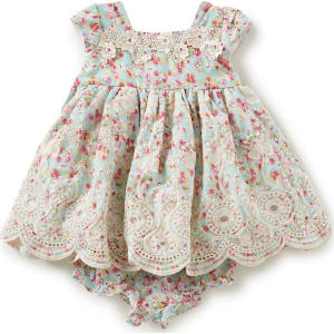 Laura Ashley London Baby Girls Newborn 24 Months Floral Print Dress