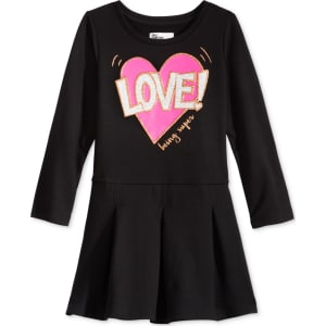 6dab8ca29dff3 Hero Kids by Epic Threads Heart-Graphic Long-Sleeve Pleated Dress ...