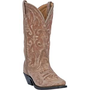 624beaf8656 Laredo Women s Maricopa Tan Tan 12 W  Insert Snip Cowboy Boot