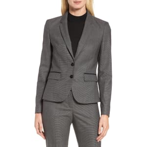 Women S Boss Jylana Stretch Wool Suit Jacket Size 2 R Grey From