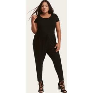 e50dd9069d3e Black Jersey Knit Jumpsuit in Black from Torrid.