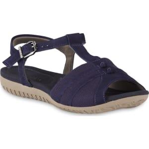b6d31f308d47 Usaflex Women s Monica Leather Mesh Bunion Sandal - Blue