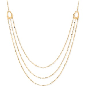 1e80c04a6043 Italian Gold Multi-Layer Chain Necklace in 14k Gold from Macy s.
