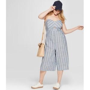 f80fe4199081 Women s Plus Size Striped Tube Jumpsuit - Universal Thread Blue 26w ...