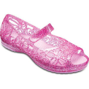 fe272510b91b Crocs Vibrant Pink Crocs Isabella Glitter Flat (Children S) Shoes ...