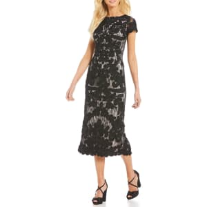 18aec9f32845 Js Collections Soutache Overlay Midi Dress from Dillard's.