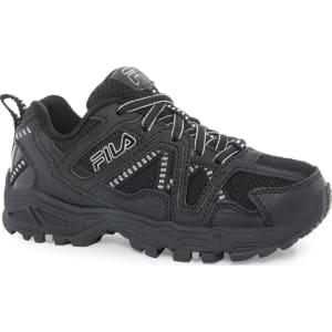 Fila Boys' Ascente 15 Black Athletic Shoe, Size: 1 (Baby)