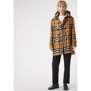 1234a1b2c Gosha X Burberry Check Oversized Duffle Coat from Burberry.