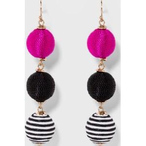1716f553e Sugarfix by Baublebar Triad Ball Drop Earrings - Black/Pink, Girl's ...