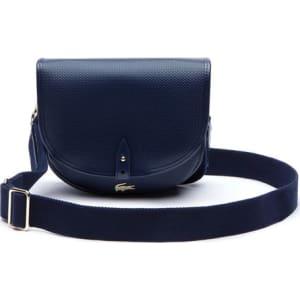 e44e94af036d Lacoste Women s Chantaco Pique Leather Flap Crossover Bag - Peacoat ...