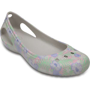6a7abe58577972 Crocs Light Pink   Floral Women s Kadee Graphic Flat Shoes from Crocs.