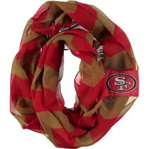new product e25fc 2ebb9 Women's San Francisco 49ers Chevron Infinity Scarf