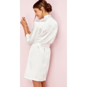 3cc65922f3 The Collection - Ivory Bridal  Mrs R  Satin Dressing Gown from ...