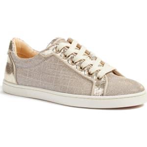san francisco d84b0 aec40 Women's Christian Louboutin Seava Hawaii Print Sneaker, Size 10.5us /  40.5eu - Metallic