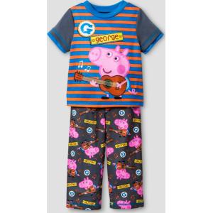 f1b638a6a050b Toddler Boys' Peppa Pig George Guitar 2-Piece Pajama Set - Gray 2T ...