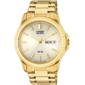 aee6b99595802 Citizen - Mens Gold Plated Eco-Drive Bracelet - Watch from Argos.