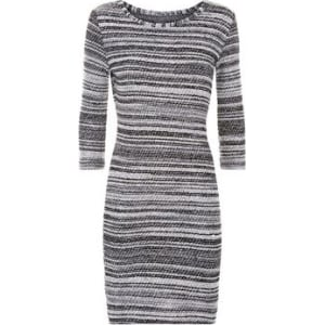 15a6ca5eb04 Apricot Dark Grey Boucle Stripe Tunic Dress New Look from New Look.