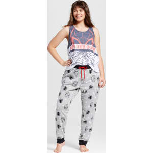 Marvel Women s Plus Size Spider-Man Slouch Tank and Jogger 2pc ... d1eb0af77