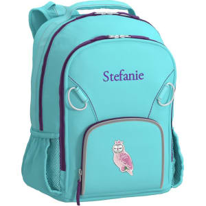 Small Backpack, Fairfax Turq Solid, Owl from Pottery Barn Kids. 8ee9035034