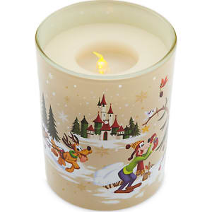 Mickey Mouse And Friends Holiday Light Up Candle