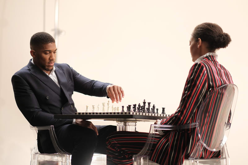 anthony joshua chess game westfield fashion