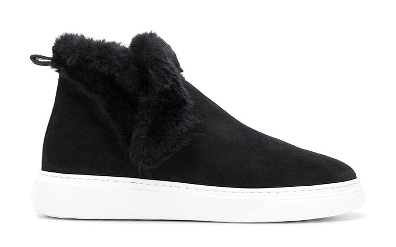 Westfield London Hogan Black slip-on sneakers with Faux Fur Lining, £300